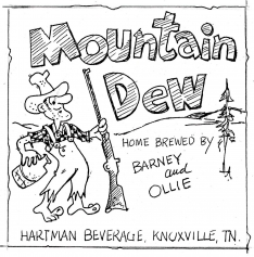 Original Mountain Dew Label by John Brichetto